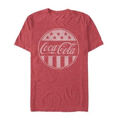 Men's Coca Cola American Flag Logo T-Shirt