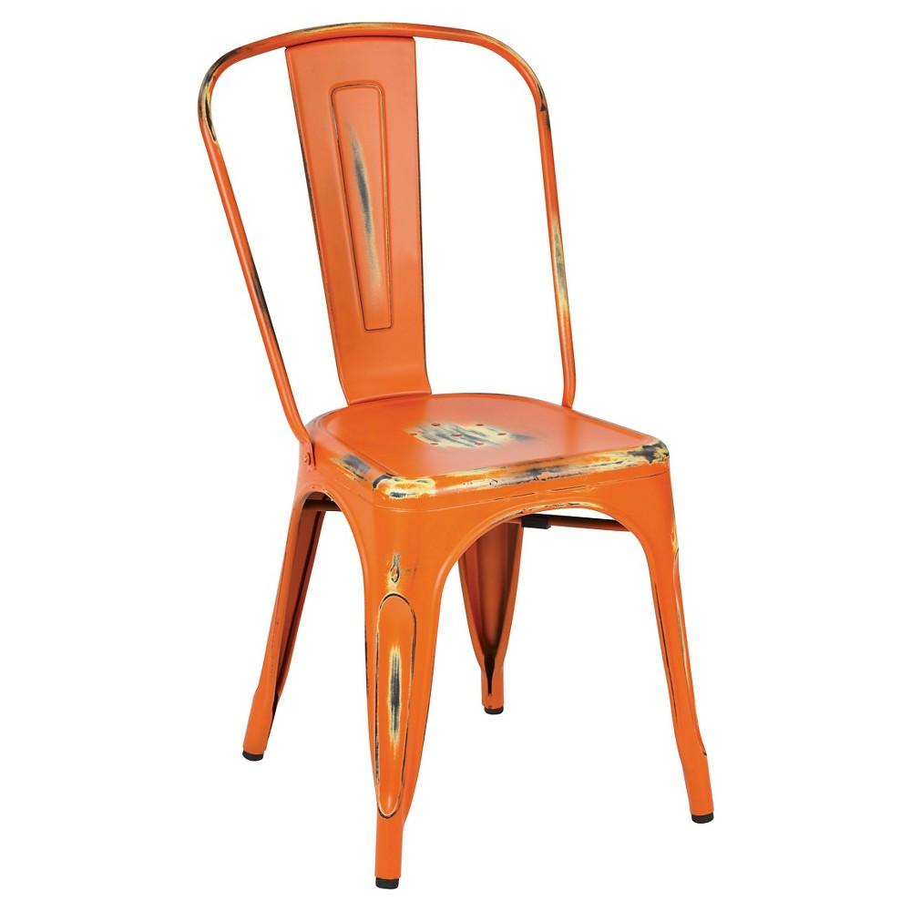 Osp Designs Bristow Armless Chair - Antique Orange (Set of 2)