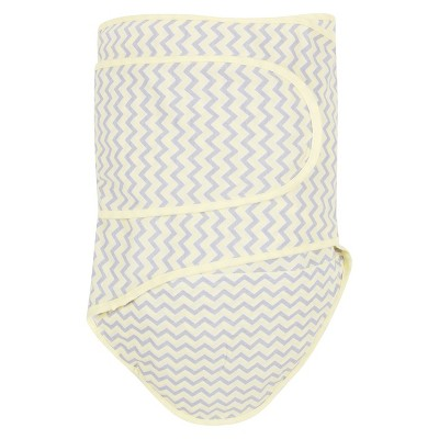 Miracle Blanket Chevron Baby Swaddle - Lemon