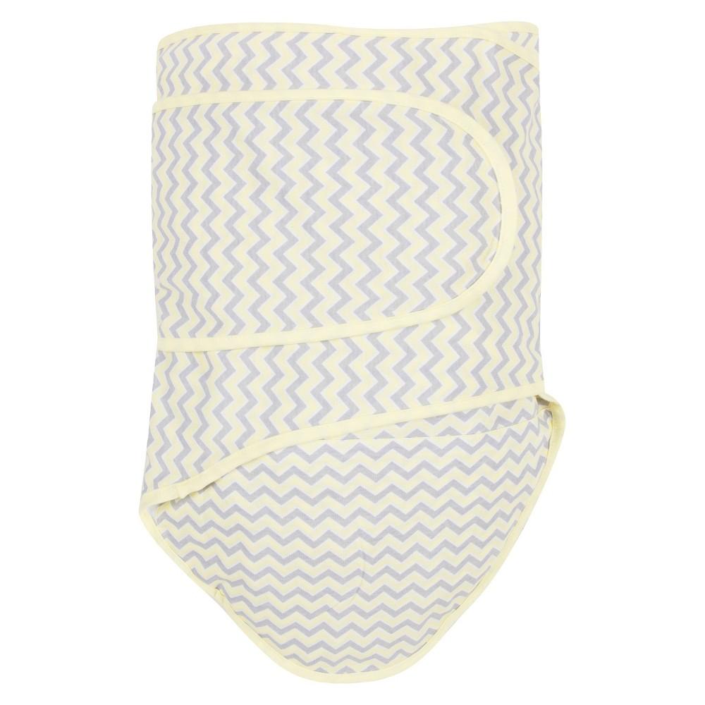 Image of Miracle Blanket Chevron Baby Swaddle - Lemon, Gray Yellow