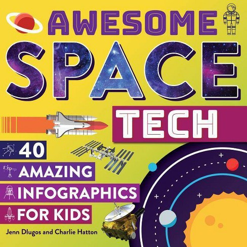 Awesome Space Tech - by  Jenn Dlugos & Charlie Hatton (Hardcover) - image 1 of 1