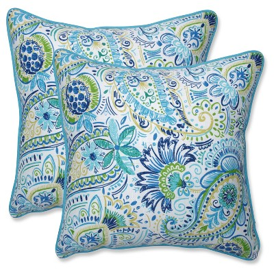 Outdoor/Indoor Gilford Blue Throw Pillow Set of 2 - Pillow Perfect