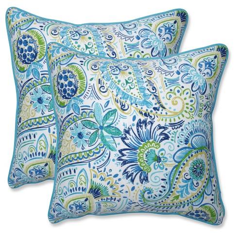 Outdoor Pillows Set Of 2.Outdoor Indoor Gilford Blue Throw Pillow Set Of 2 Pillow Perfect