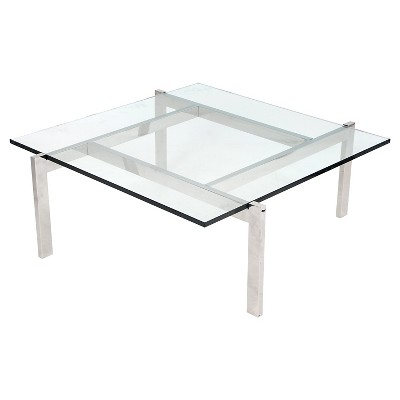 Glass Cosmopolitan Coffee Table Clear   LumiSource