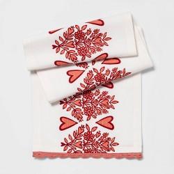Heart Banner Table Runner with Crochet Red - Opalhouse™