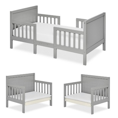 Dream On Me 3-in-1 Convertible Toddler Bed - Cool Gray
