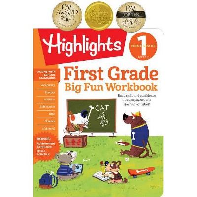 Big Fun 1st Grade Activity Book 10/15/2017 - by Highlights (Paperback)
