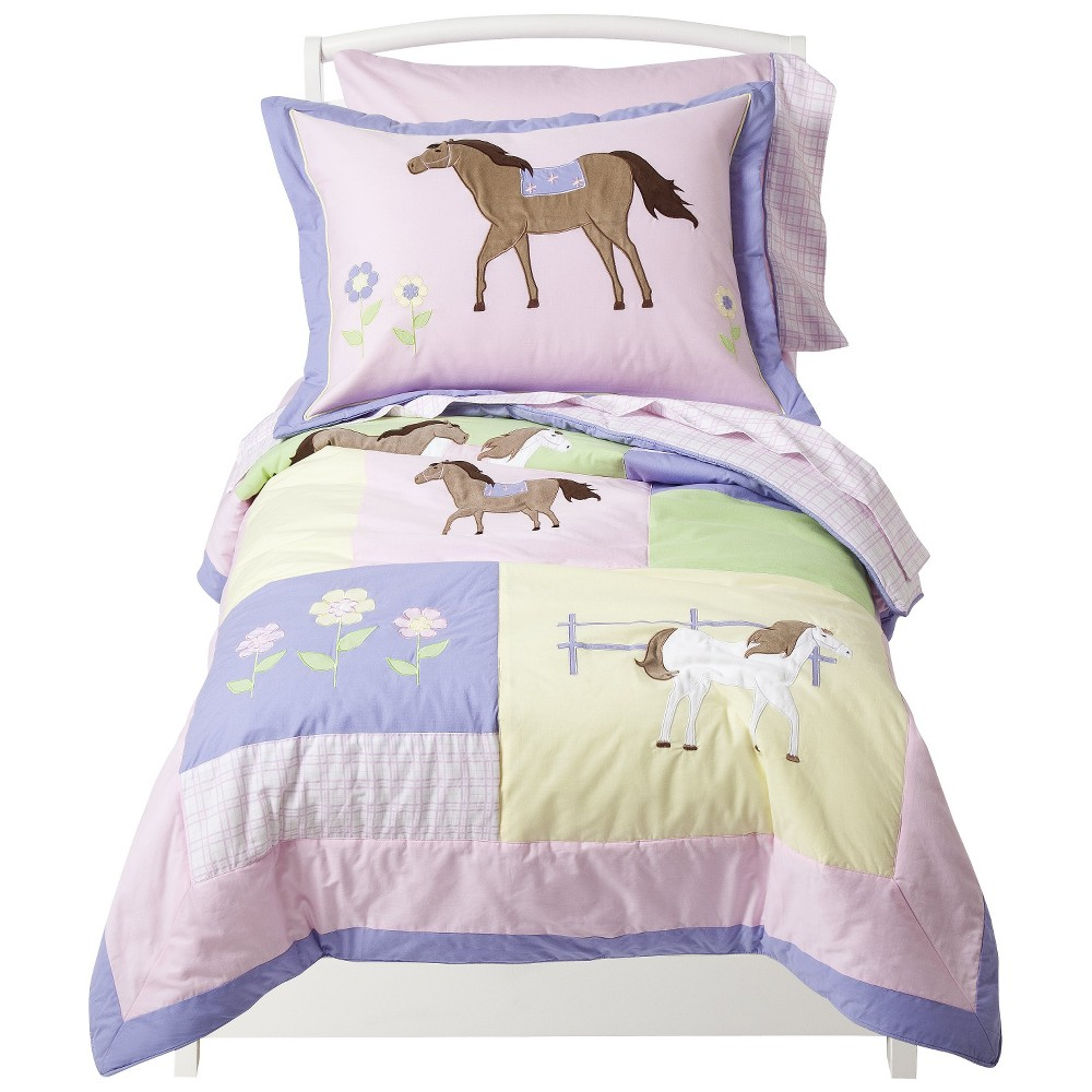 Sweet Jojo Designs Pony 5 pc. Toddler Bedding Set