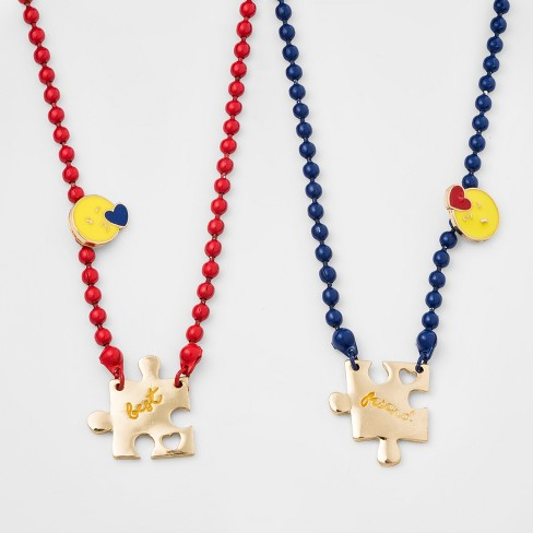 Girls' Puzzle Piece BFF Necklace - Cat & Jack™ One Size - image 1 of 2