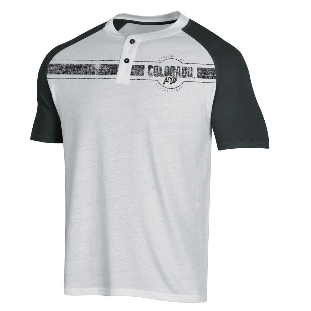 NCAA Men's Raglan Henley T-Shirt Colorado Buffaloes - L, Multicolored