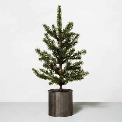 """22"""" Faux Potted Pine Tree in Metal Planter - Hearth & Hand™ with Magnolia"""