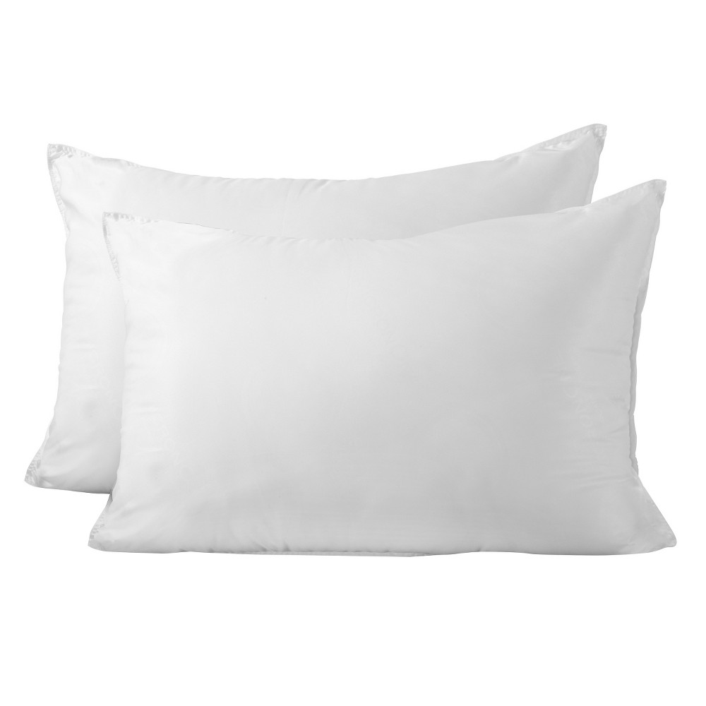 SlumberTech MicronOne Allergen Barrier Cover Queen Pillow 2pk, White