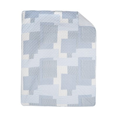 """C&F Home Asher Stripe Cotton Quilted 48"""" x 60"""" Throw Blanket"""