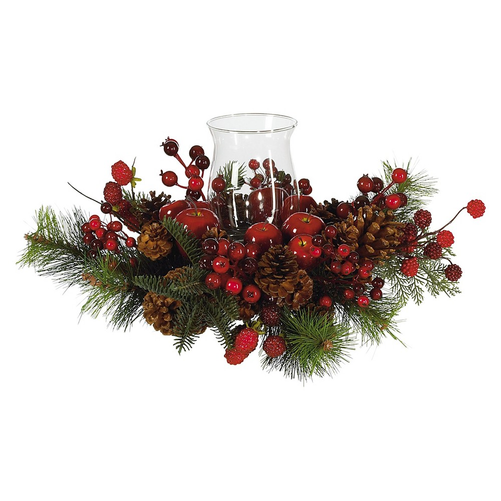 Holiday Candelabrum - Nearly Natural, Red