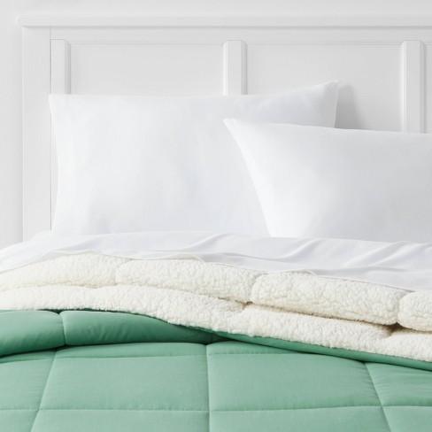 Sherpa Washed Microfiber Comforter - Room Essentials™ - image 1 of 4