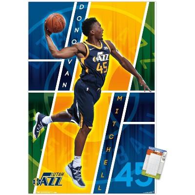 Trends International NBA Utah Jazz - Donovan Mitchell 18 Unframed Wall Poster Prints
