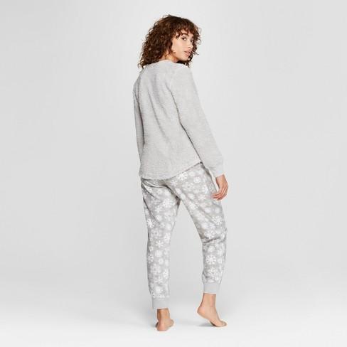 5d484d257475 Women s Disney Eeyore Holiday Cozy Pajama Set - Gray S   Target