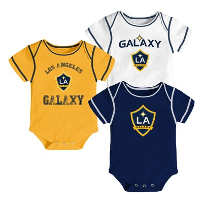 Youngest Fan 3pk Body Suit Set Los Angeles Galaxy 3-6 M