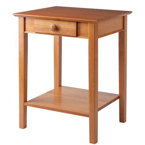 Studio End Printer Table Honey Winsome Target