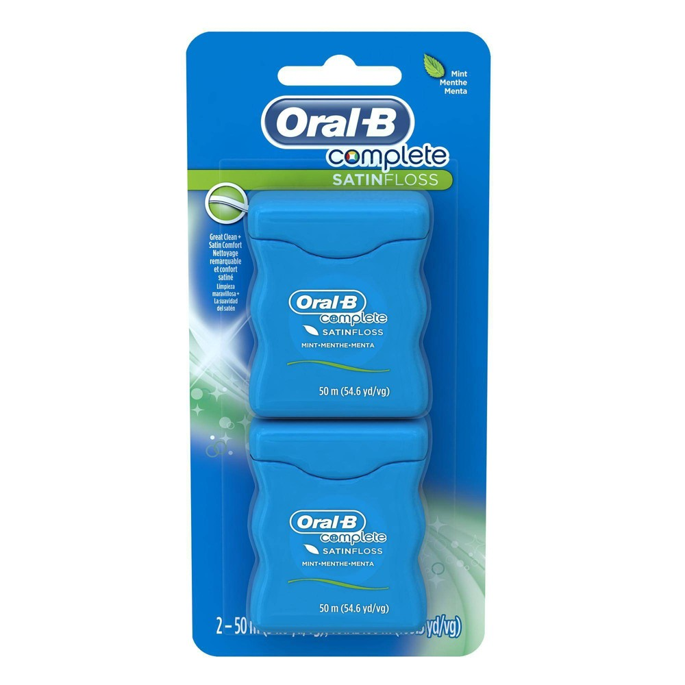 Image of Oral-B Complete SatinFloss Mint Dental Floss - 100m