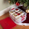 Sterilite 24ct Stack and Carry 2 Layer Ornament Box - image 2 of 4