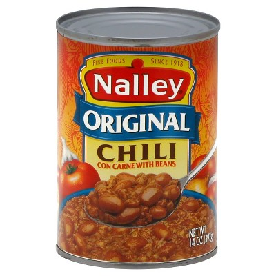 Nalley Original Chili Con Carne with Beans 14oz