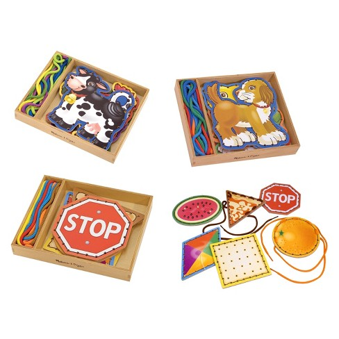 Melissa & Doug® Deluxe Lace & Trace Set - image 1 of 8