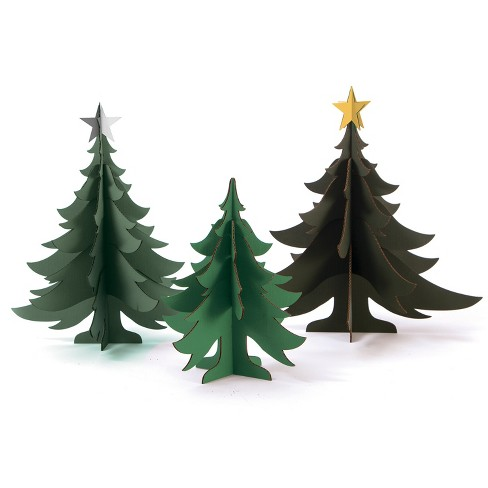 3ct Corrugate Christmas Trees - Wondershop™ - image 1 of 1