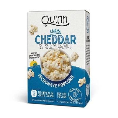 Quinn White Cheddar & Sea Salt Popcorn - 7oz