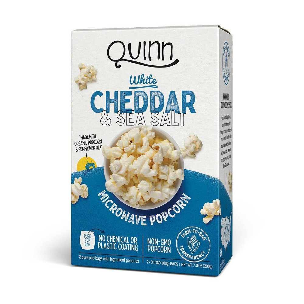 Quinn White Cheddar Sea Salt Popcorn 7oz