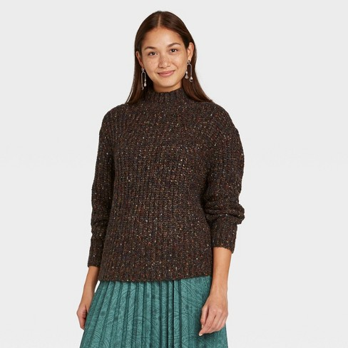 Women's Mock Turtleneck Pullover Sweater - A New Day™  - image 1 of 3