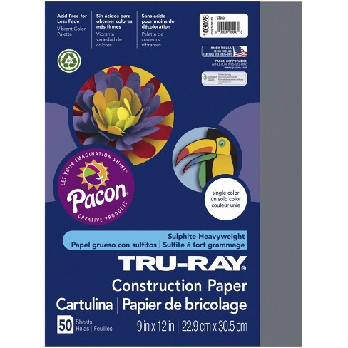 Tru-Ray Sulphite Construction Paper, 12 x 18 Inches, Slate, 50 Sheets - image 1 of 1