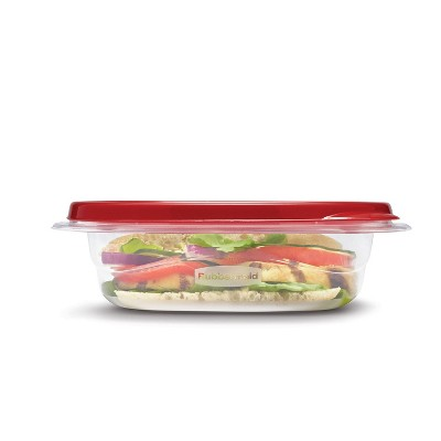Rubbermaid TakeAlongs Food Storage Containers - 2.9 Cup Square - 8pk