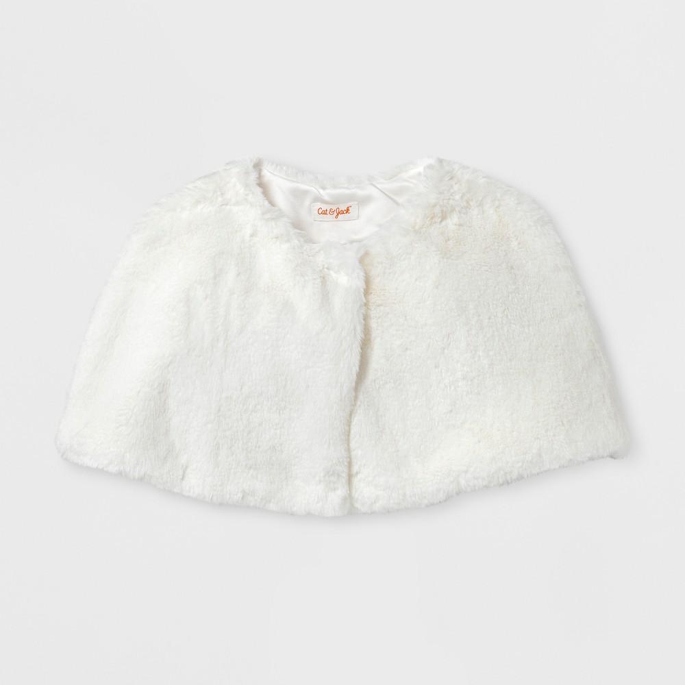 Girls' Capelet Jacket - Cat & Jack Ivory XL, White
