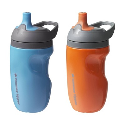 Tommee Tippee Insulated Sportee Toddler Girl Water Bottle with Handle - Blue & Orange - 2ct/4oz Each