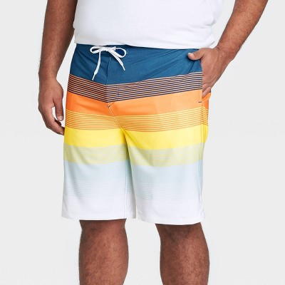 "Men's Big & Tall 10"" Sunset Board Shorts - Goodfellow & Co™ Navy"