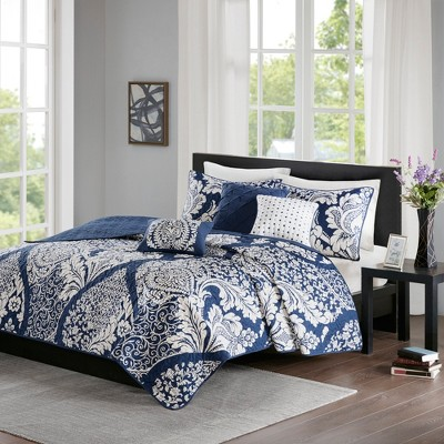 6pc Adela Coverlet Set Indigo