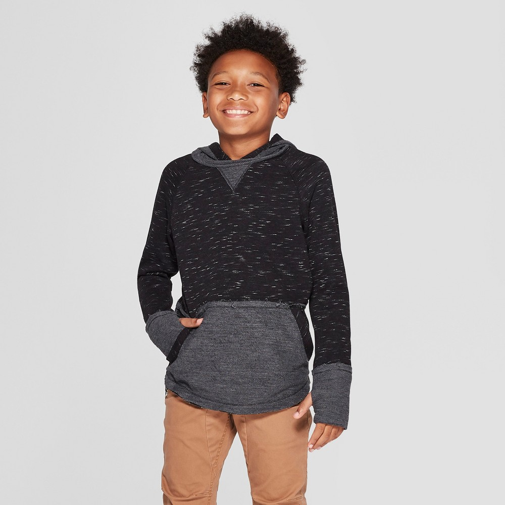 Boys' Long Sleeve Heathered Sweatshirt - art class Black L