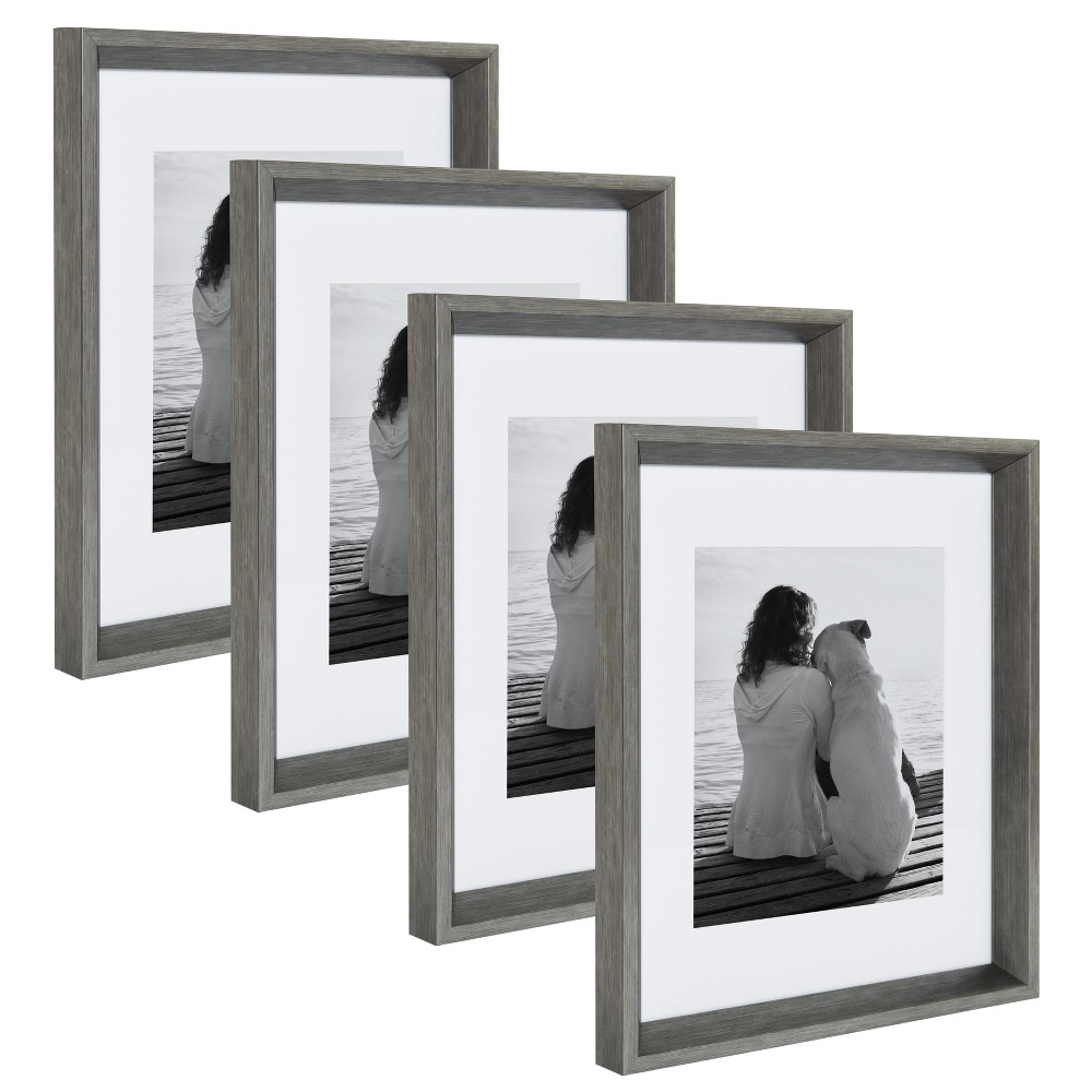 "Image of ""11""""x14"""" Calter Photo Frame Set Silver - Kate & Laurel All Things Decor"""