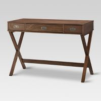 Threshold Campaign Wood Writing Desk with Drawers Deals