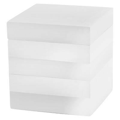 Lacquer Stripe Cotton Jar - White - Cassadecor