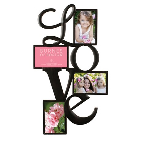 Burnes 4-Opening Venetian Copper Love Collage Frame : Target