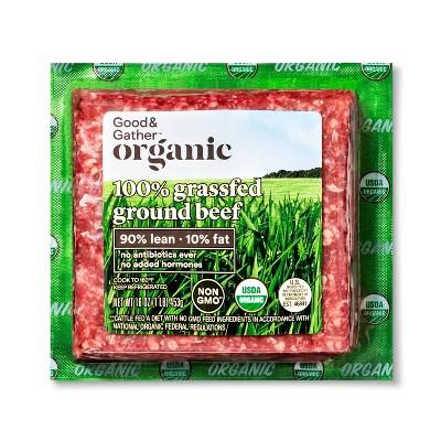 Organic 100% Grassfed 90/10 Ground Beef - 1lb - Good & Gather™