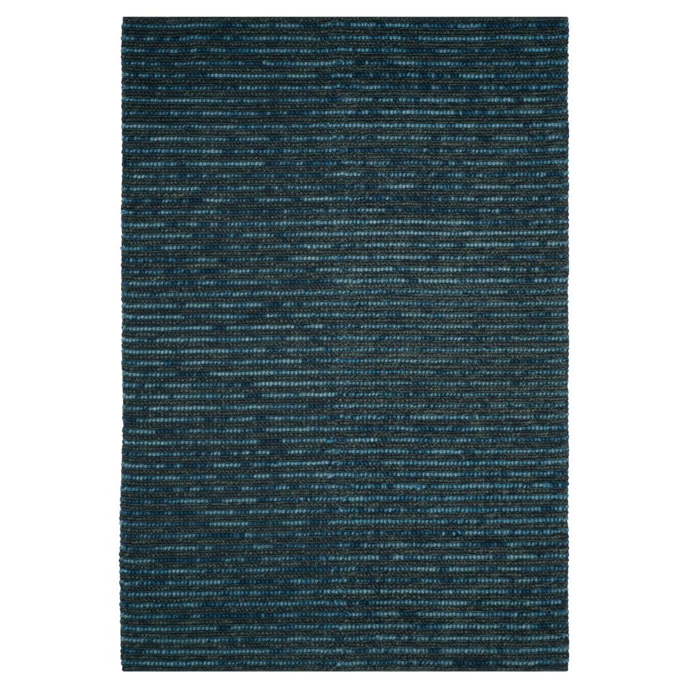 Dark Blue Stripe Woven Area Rug - (5'X8') - Safavieh, Dark Blue/Multicolor