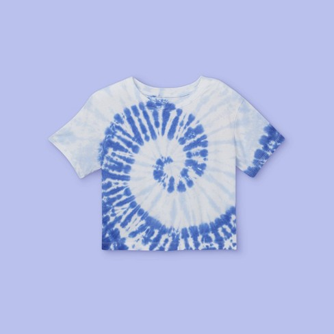 Girls' Tie-Dye Boxy Short Sleeve T-Shirt - More Than Magic™ - image 1 of 2