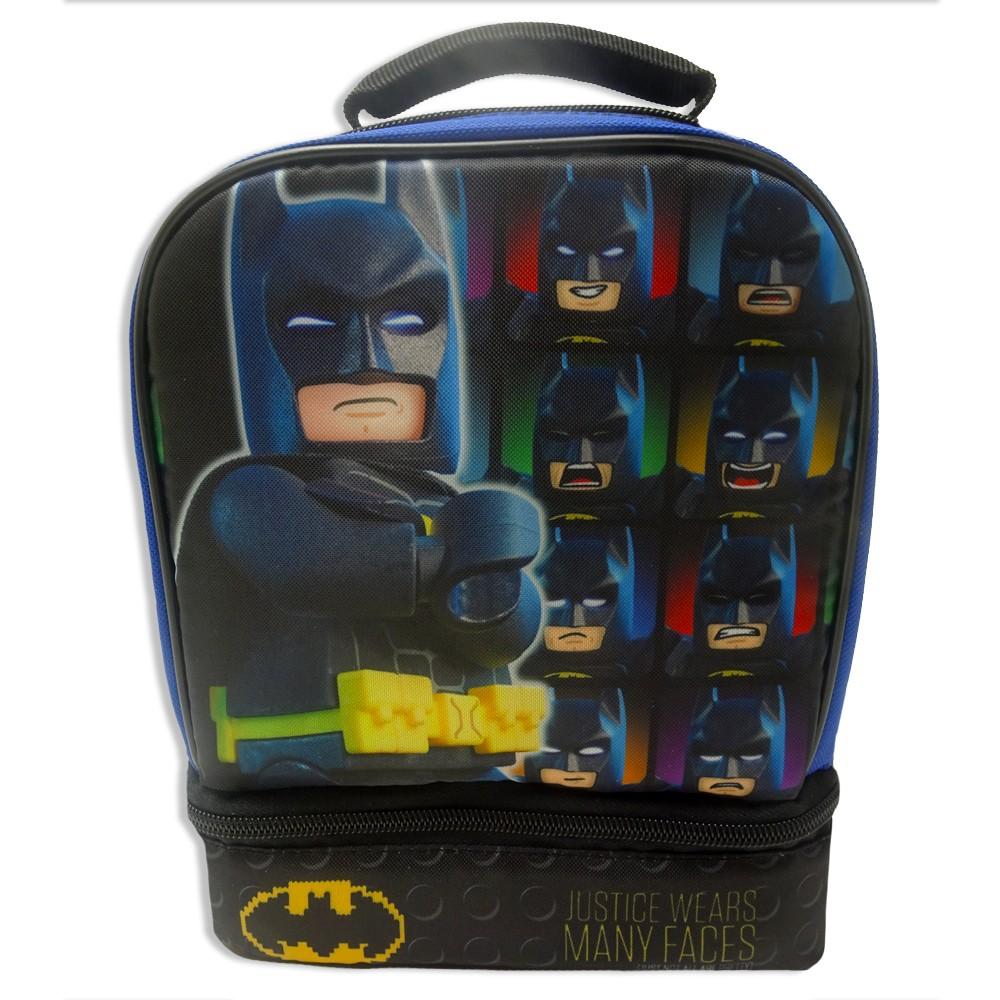 Batman Dual Compartment Lunch Bag, Blue