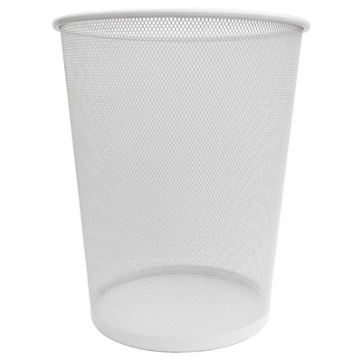Steel Mesh Trash Can, White - Room Essentials™