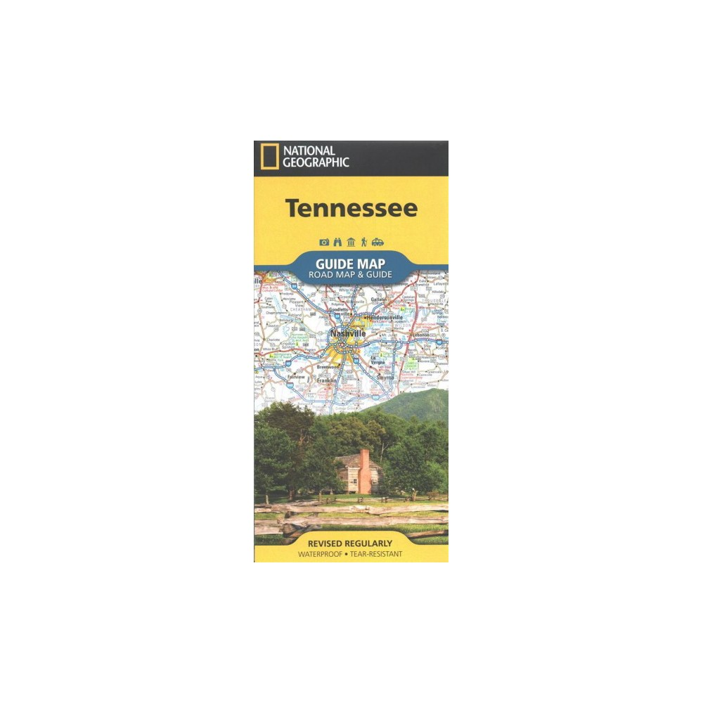 National Geographic Guide Map Tennessee : Road Map & Guide (Paperback)