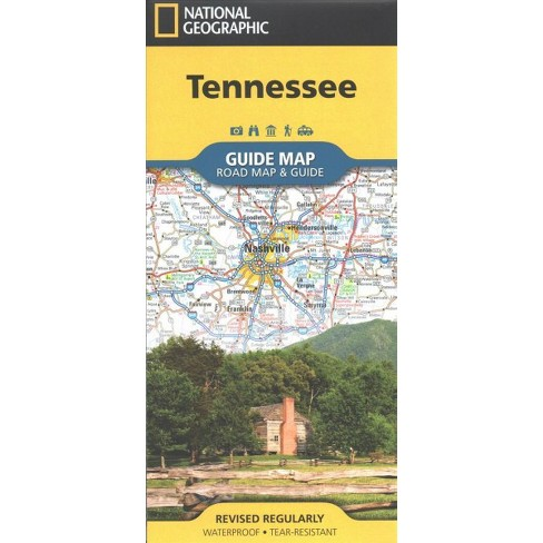 National Geographic Guide Map Tennessee : Road Map & Guide ...