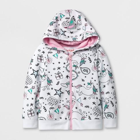b357dfa57ed6 Toddler Girls  Unicorn Hooded Sweatshirt - Cat   Jack™ White 5T   Target